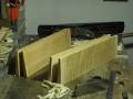 legno grezzo di fondo e tavola